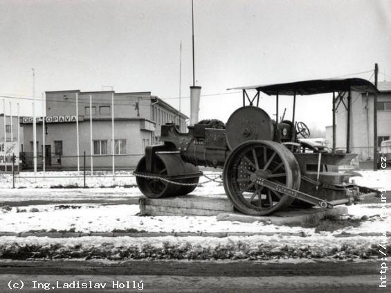 Silniční válec s parním pohonem Jacob Becker, Leipzig, from the year 1912