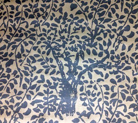 China Seas Fabric: Arbre De Matisse - Custom Windsor Blue on Tint