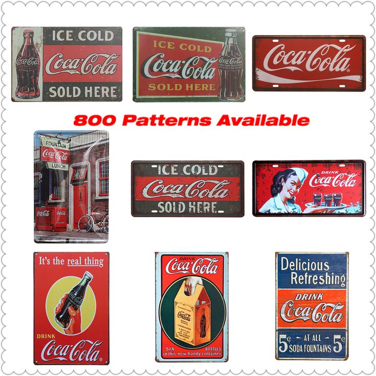 Shabby Chic Coke Soft Drink Vintage Metal Signs Home Decor Vintage Tin Signs Pub Vintage Decorative Plates Metal Wall Art
