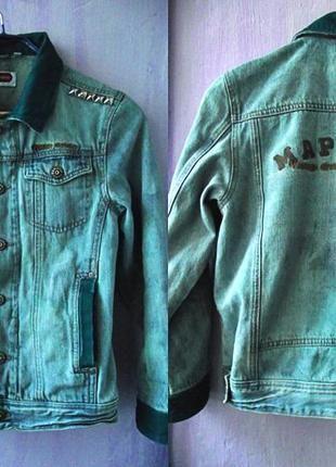 Стильная винтажная джинсовка с заклепками и множеством интересных деталей, рукав 3/4, отлично сидит и подходит под любые вещи (Here There)  за 230 грн.