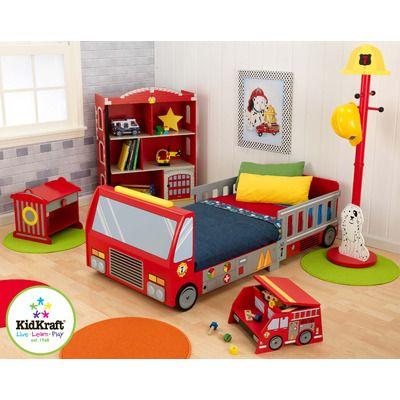 KidKraft Firefighter Car Customizable Bedroom Set & Reviews | Wayfair