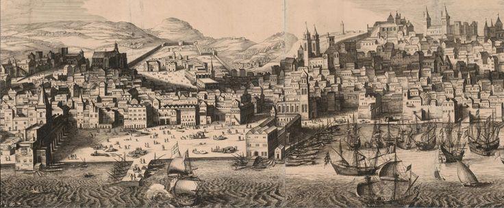 Lisboa em 1619. Coleção de paisagens urbanas e cartazes que pertenceu ao estadista sueco conde Magnus Gabriel De la Gardie (de 1622 a 1686).
