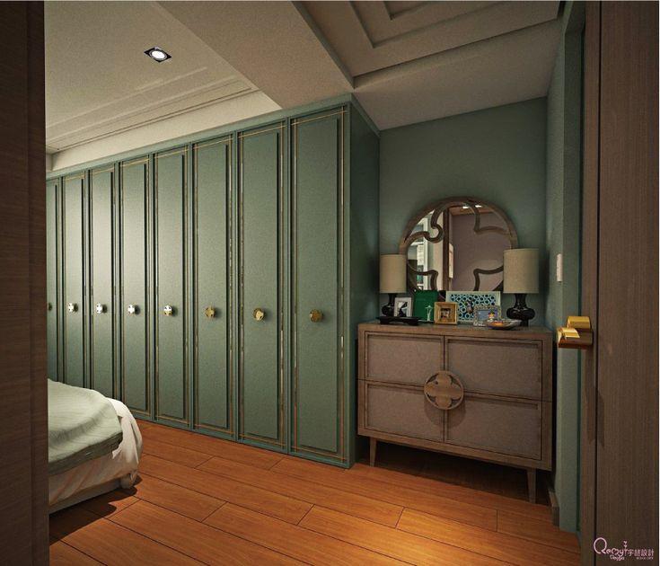 15 臥房設計 主臥房設計 室內設計 城市風格 都會風格 沉靜 衣櫃 端景櫃 床頭繃布 壁布 投影幕 實木地板 宇喆