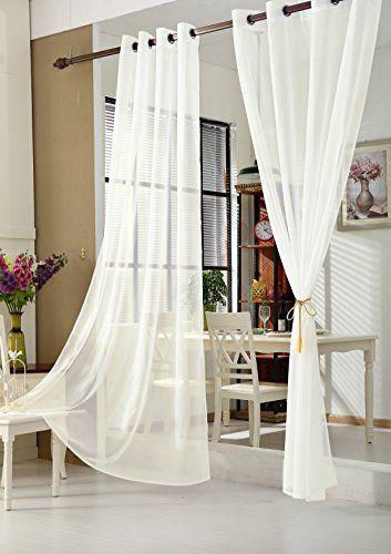 WOLTU VH5513cm Gardine Vorhang Transparent Mit Sen Sens