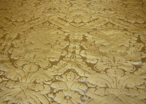Faux Silk Damask Dark Gold Textile Express Buy Fabric