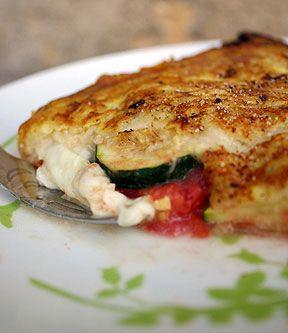 Recette de croque-monsieur aux tomates et aux courgettes
