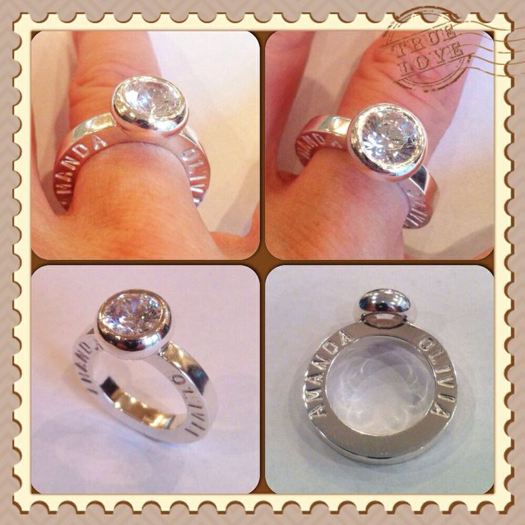 Ring whit childrens name fore mum 8 mm Cz