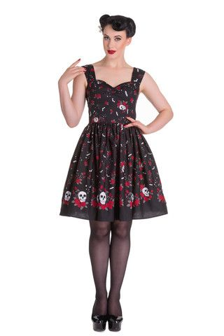 Ladies Dress - Hell Bunny Aconite Dress – PoisonKandyKlothing
