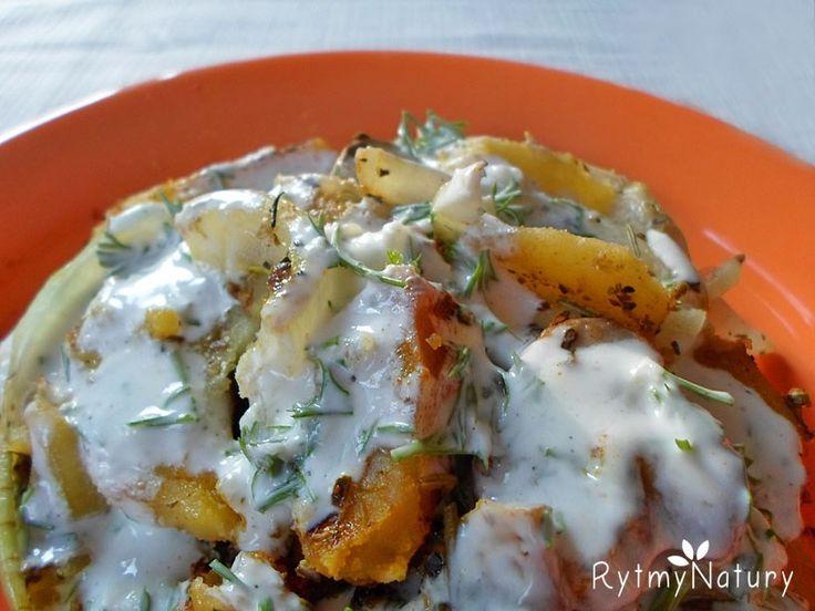 Propozycja na tani, dietetyczny obiad czyli zapiekanka ziemniaczana z pieczarkami podana!  #rytmynatury #dietetyczny #obiad #fit #danie #zapiekanka #pycha