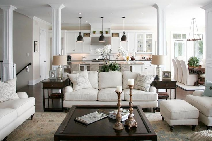 Staples Design Group - living rooms - open plan, open concept, open concept kitchen, open concept family room.