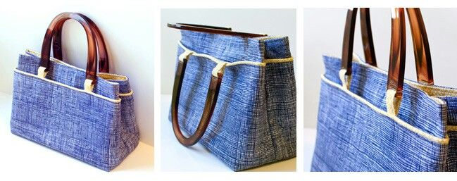 Free Bag Tutorial using Wooden Handles.  http://www.lbg-studio.com/2011/09/purse-week-u-shaped-purse-handle.html