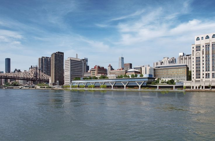 Rockefeller University River Campus Master Plan and New Laboratory Building | Rafael Viñoly Architects |  View from Roosevelt Island.