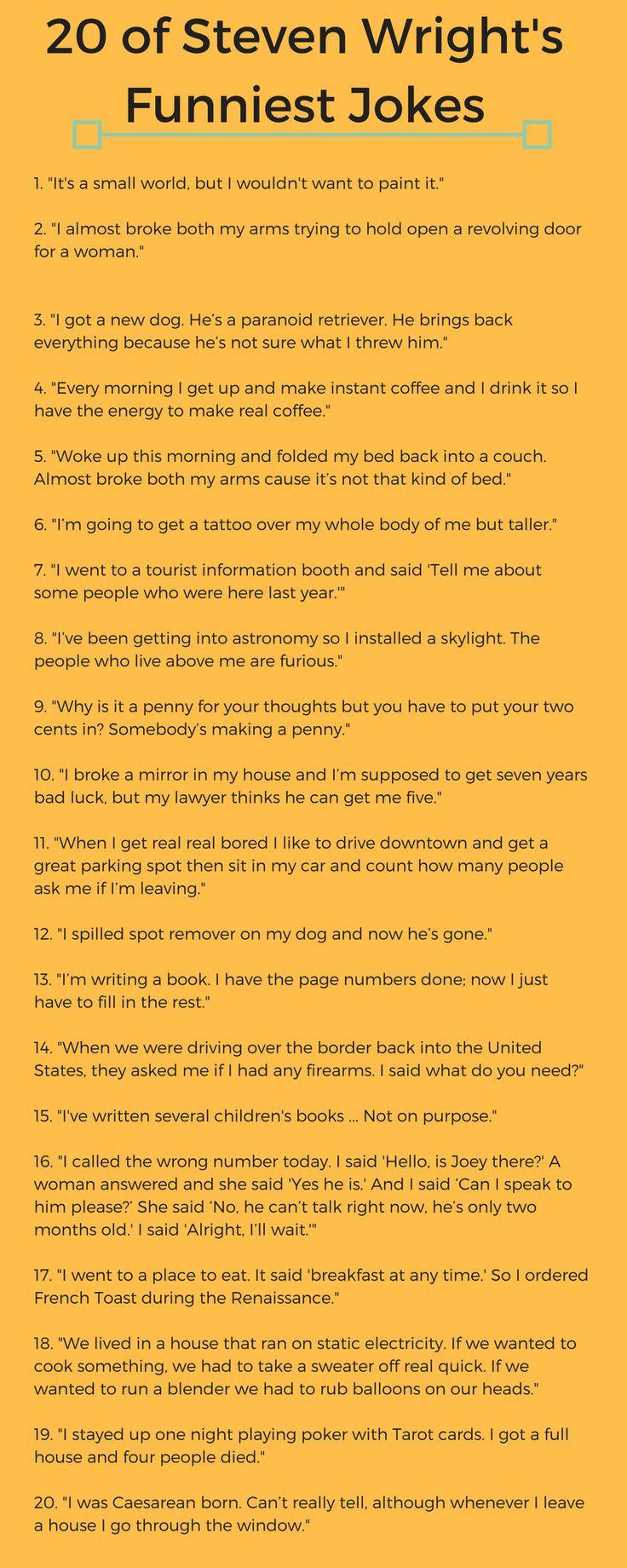 20 of Steven Wright's Funniest Jokes http://ift.tt/2h5GMHC