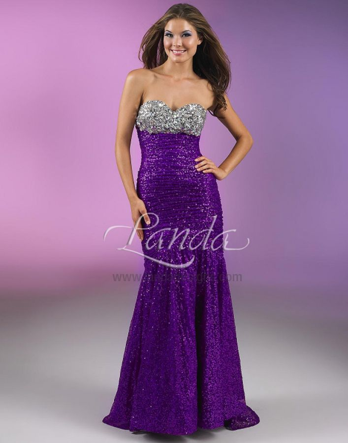 16 best landa prom gown images on pinterest prom for Silver and purple wedding dresses