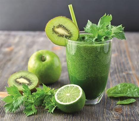 Gröna läkande drinkar - Nära