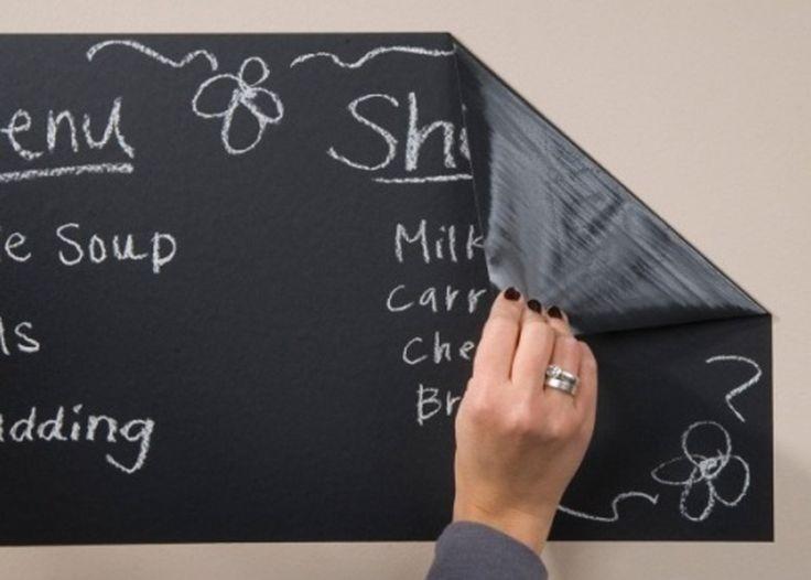 Chalkboard Removable Reusable Blackboard Sticker - Wall Refrigerator Decal or Kitchen Backsplash