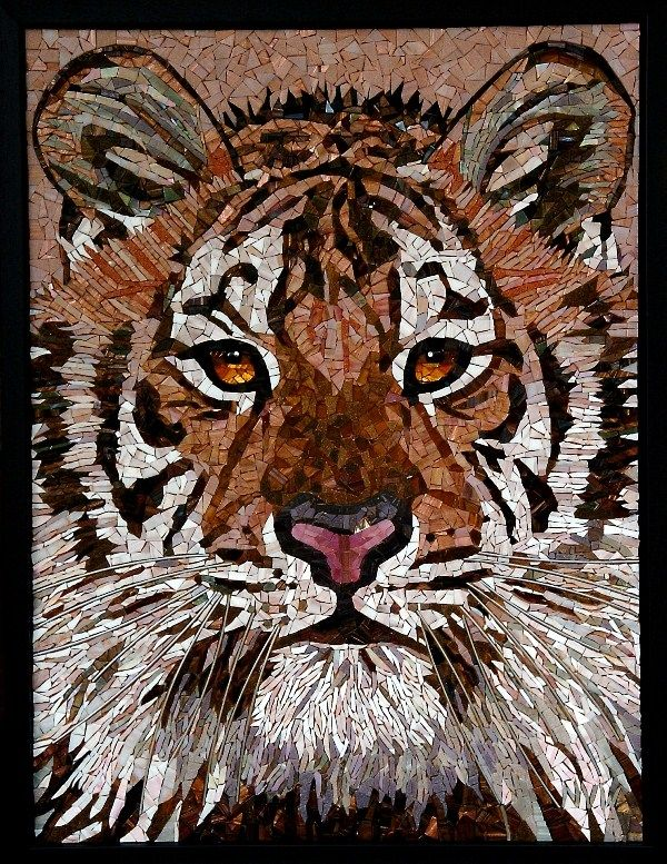 Tiger - Glass Mosaic
