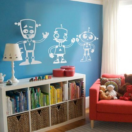 robot wall stickers - boys room