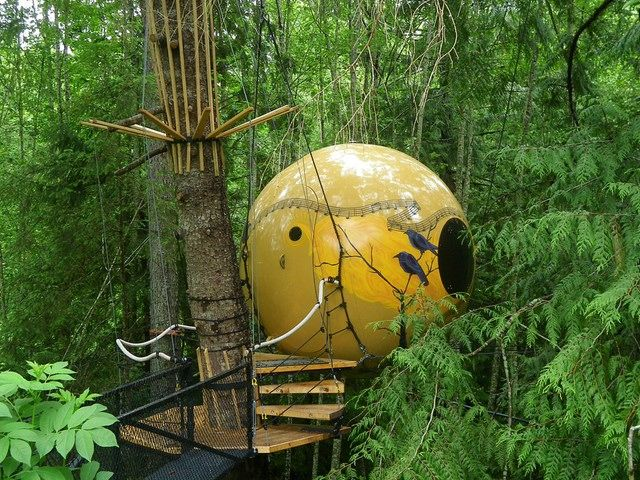 "Credit: PR Free Spirit Spheres, British Columbia, Canada ""Suspended in..."
