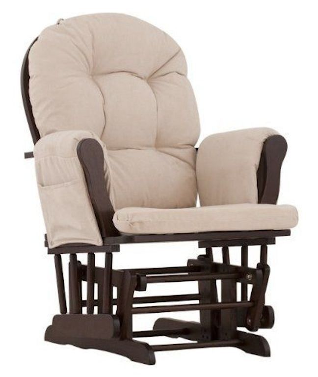 new glider rocking chair baby nursery living room cushioned rocker