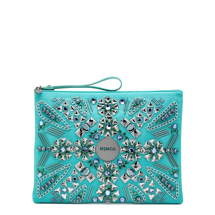Supernova Pouch - Embellished blue beauty