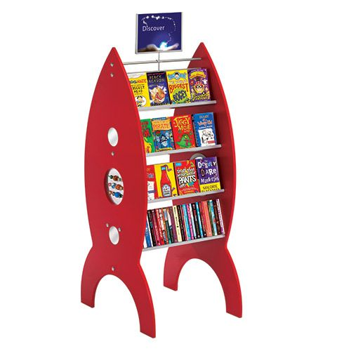 The Rocket Pod delivers a big 'wow' for a small outlay. The vibrant colour and stunning design attract immediate attention. The unit displays paperbacks on both sides and features fun mirror circles and tactile beads on the sides. Supplied with 5 free graphics so you can change your displays frequently.