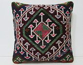 "decorative bed pillow 18"" urban cushion design pillow rustic throw pillow pale outdoor pillow cover floor cushion cover hippie pillow 25945"