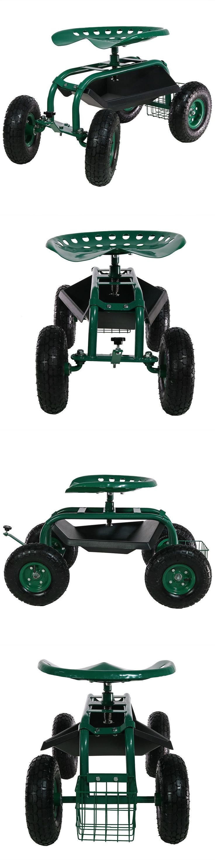Garden Kneelers Pads and Seats 75669: Garden Stool Tractor Seat Rolling Swivel Gardening Cart Gardener Planting Weeds -> BUY IT NOW ONLY: $99.97 on eBay!