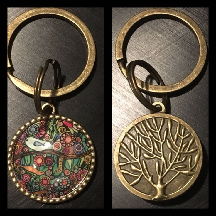 A personal favourite from my Etsy shop https://www.etsy.com/au/listing/572352733/brass-keyring-tree-of-life-art-keychain