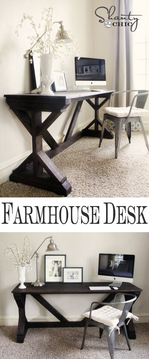 Farmhouse Style Bedroom Desk. This blog has really inspired me to learn how to build things with wood! Men aren't the only ones who can use tools :)