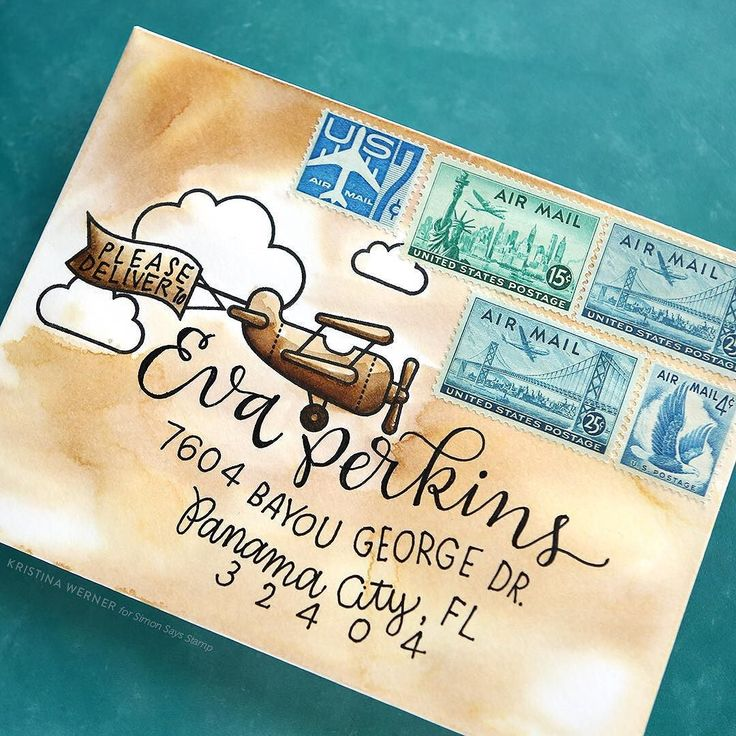 Morning all! Just posted a new Monthly Mail Art for @simonsaysstamp. This month's envelope features stamps from @lawnfawn! Check out the video at the link in my profile. #kwdesignenvelopes