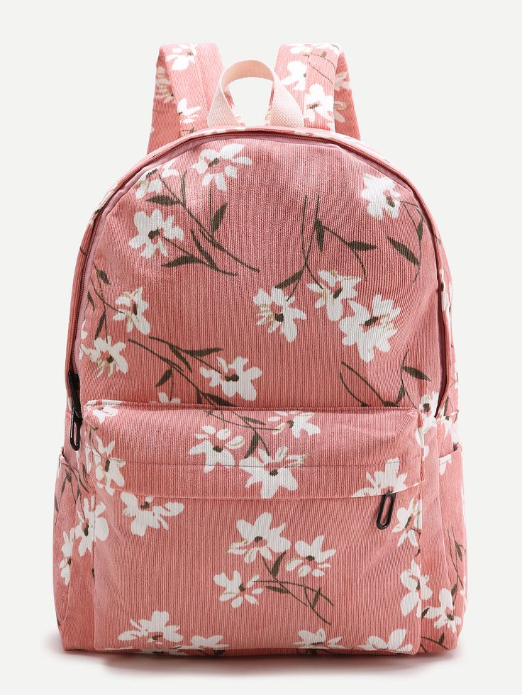 Shop Pink Flower Print Canvas Backpack online. SheIn offers Pink Flower Print Canvas Backpack & more to fit your fashionable needs.