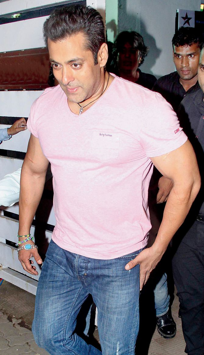 Salman Khan spotted in a pink tee in Bandra. #Bollywood #Fashion #Style #Handsome