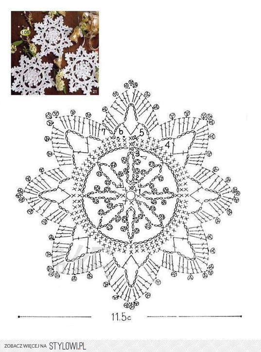 crochet snowflake diagram