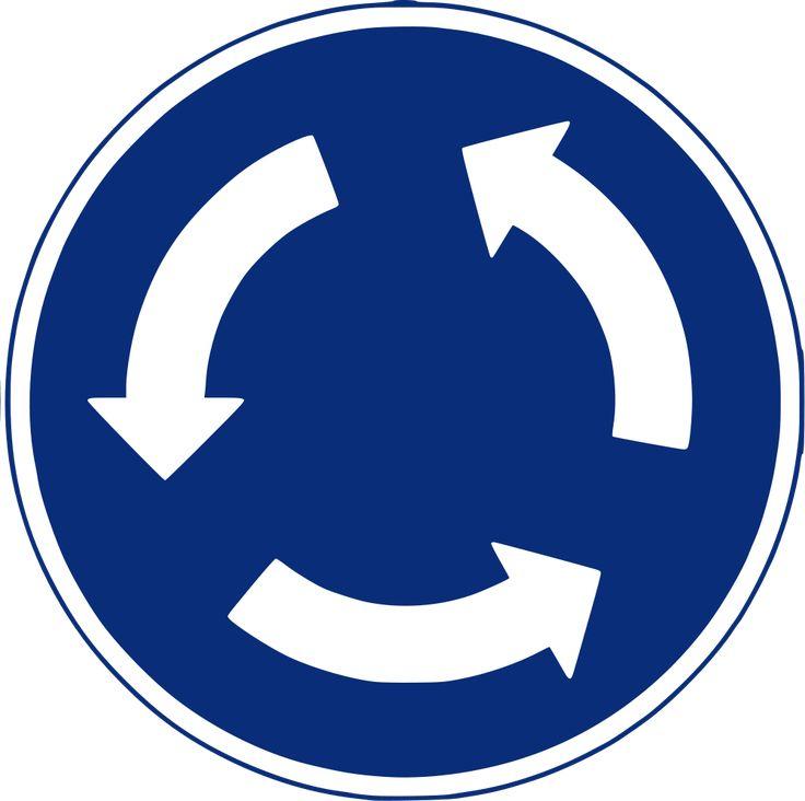 Intersección de sentido giratorio obligatorio (rotonda)