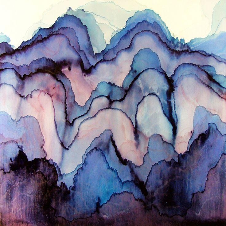 Painting... DL's bedroom???: Watercolor Art, Tobias, Mood Swings, Watercolor Paintings, Blue, Waves, Texture, Watercolors, Water Colors
