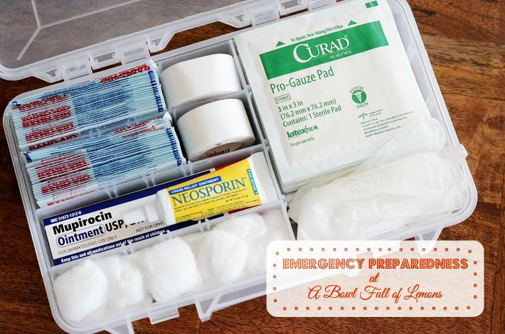 How to create a WELL stocked First aid kit (written by a Registered Nurse).  -  A Bowl Full of Lemons