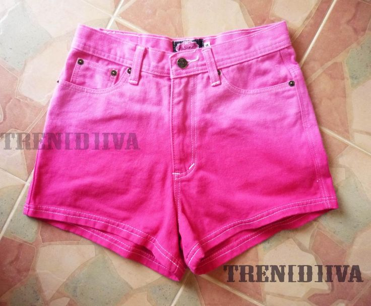 High Waisted Pink Shorts Cool Gradient Pink Shorts #shorts #pink #beach