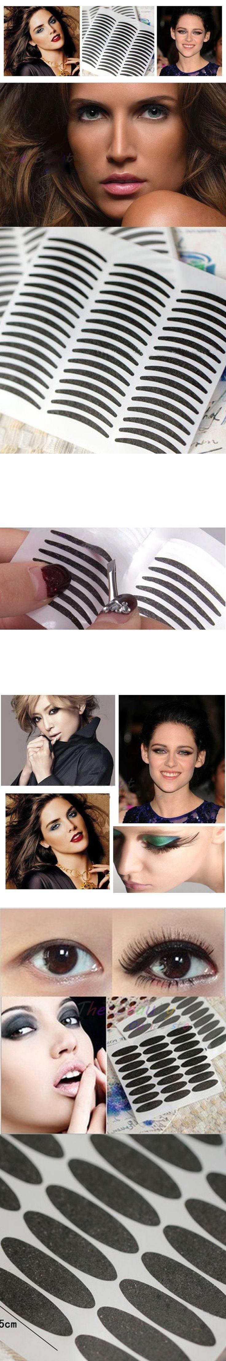 72pair Black Cat-eye Eye liner Stripe Make Up Eye Sticker Double Eyelid Transfer Tape Eye Tattoo Eyeliner Waterproof Maquillage