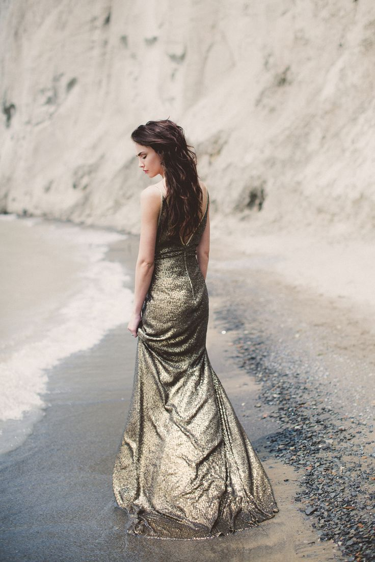 Gold sequin wedding dress // & FOR LOVE