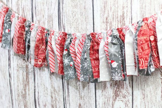 What a great way to accent your Holiday Christmas Home Decor! Textured fabric strip banner, approximately 5 long with coordinating Christmas / Holiday / Winter fabrics . **Can be CUSTOMIZED to match your colors or theme.** Use it to decorate for your Holiday party then move it to a wall, a fireplace, small Christmas tree or a stair railing! Can also double as a prop for a Photo Session as well! Makes a great addition to your Holiday supplies!   Not what youre looking for? Please che...