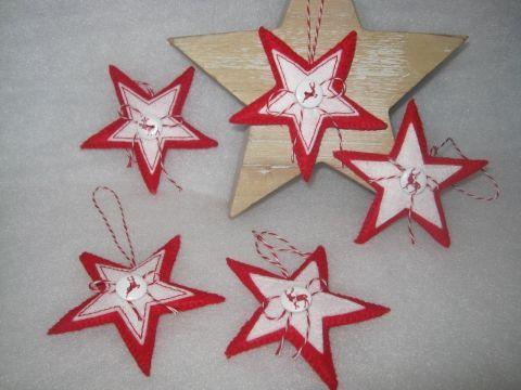 5 db os csillag szett, Otthon, lakberendezés, Dekoráció, Karácsonyi, adventi apróságok, Karácsonyi dekoráció, Meska