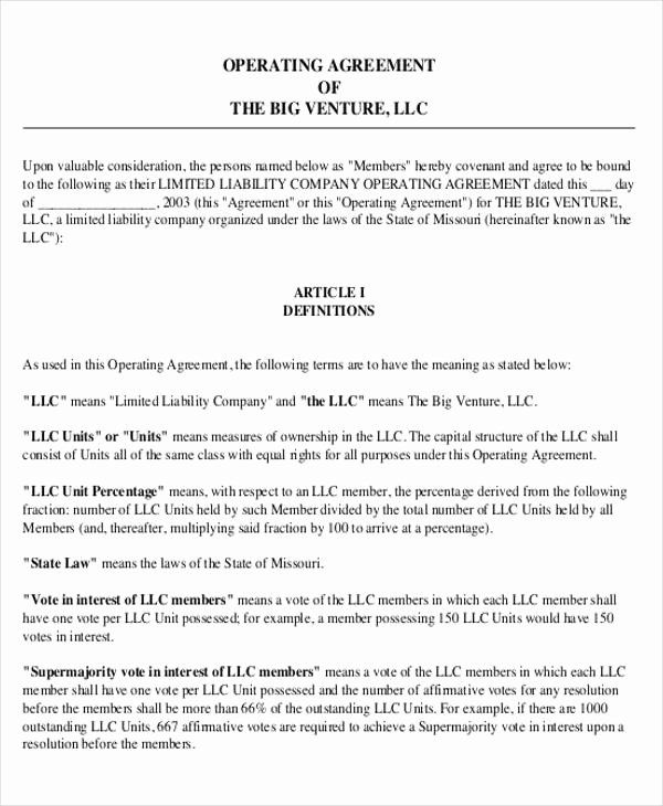 Transfer Of Business Ownership Agreement Template New 10 Operating