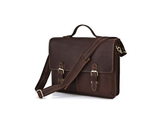 Durable Beautiful Leather messenger bag for men. #leatherbag