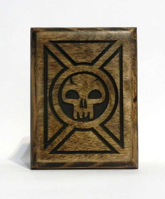 Magic the Gathering Card Box MTG Deck Box Pokemon by FoxAndDragon, $64.95