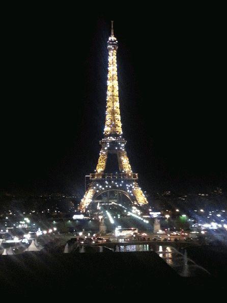 Dmitry Zhiglov 22:01 Как и ёлка на предыдущей фотографии, Эйфелева башня тоже играет огнями