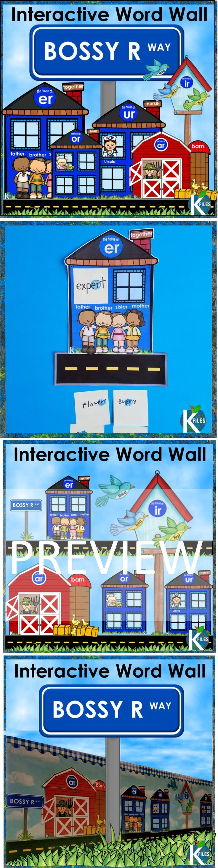 Bossy r-controlled Word Wall includes word family houses for all phonograms appropriate for the primary grades. This method aligns with Words Their Way, any Spelling program AND differentiated spelling lists. You will no longer worry that your Word Wall is just taking up valuable space in your classroom. I have included a 6-page guide to help you EASILY facilitate and manage your Interactive Word Wall. Perfect for Daily 5, literacy centers, Reader's Workshop, Writer's workshop & Spelling…