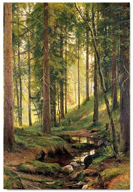 Forest Stream Canvas Print, From Painting By Russian Artist Ivan Shishkin.  I NEED This