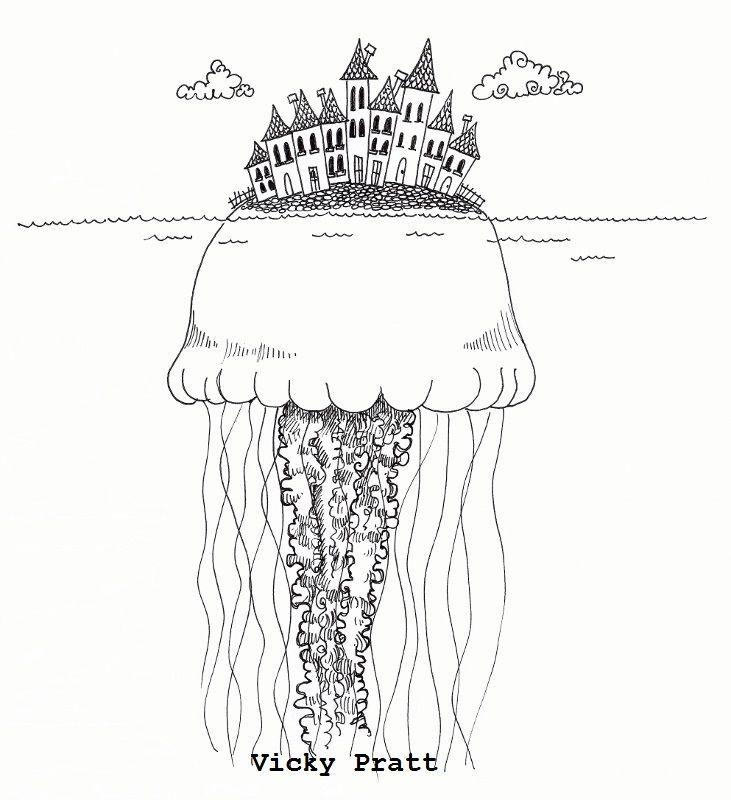 Week 42: Under the sea. Unipin fine liner on cartridge paper. www.vicpratt.wix.com/vickypratt Find me on Facebook Vicky Pratt - Illustrator.