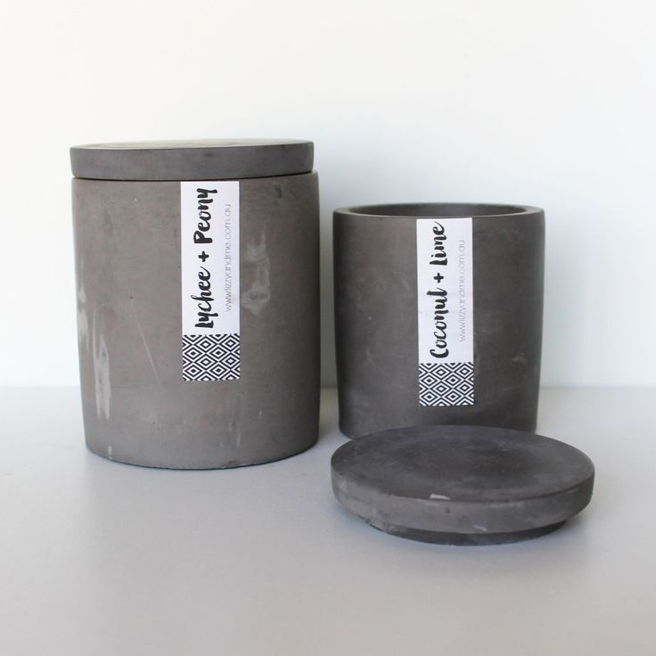 Luxary Range - Concrete Scented Soy Candle